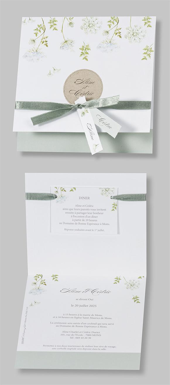 Faire-part mariage printanier 108008