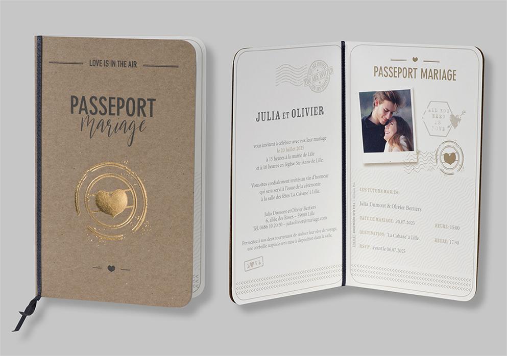 Faire-part passeport d'amour 108047