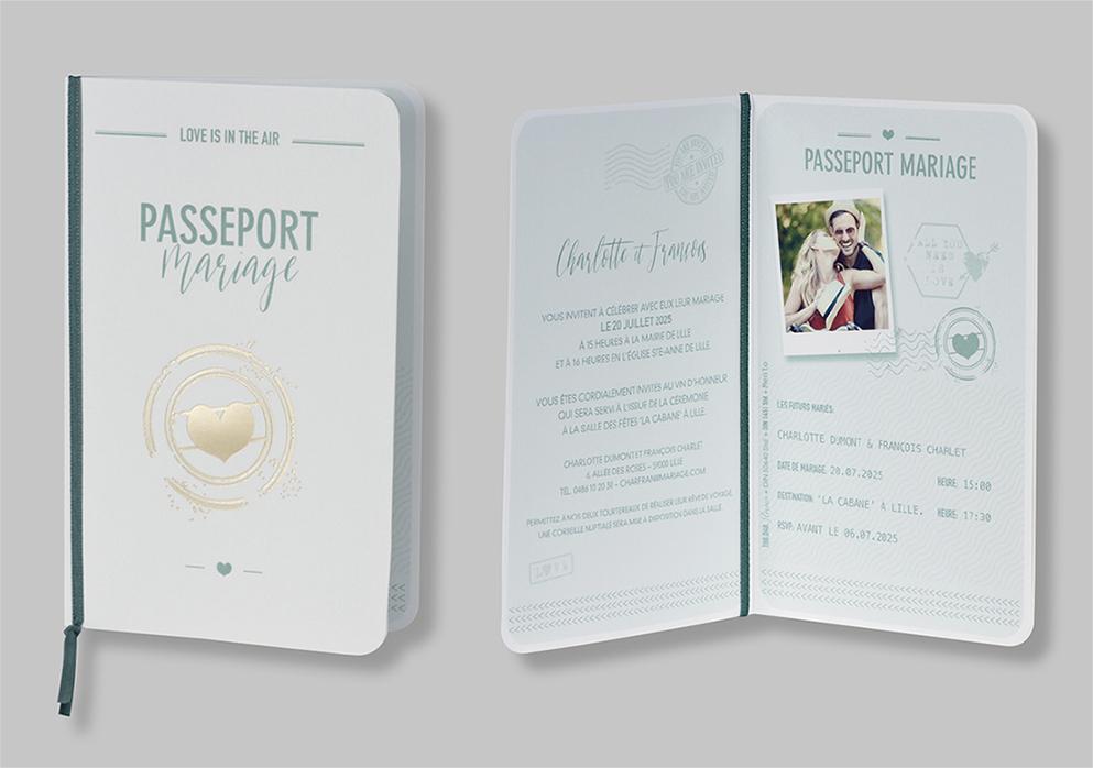Faire-part passeport d'amour 108048