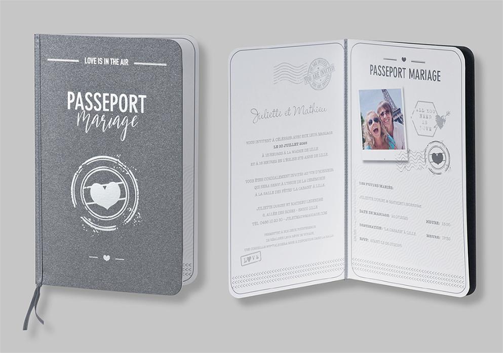 Faire-part passeport d'amour 108049