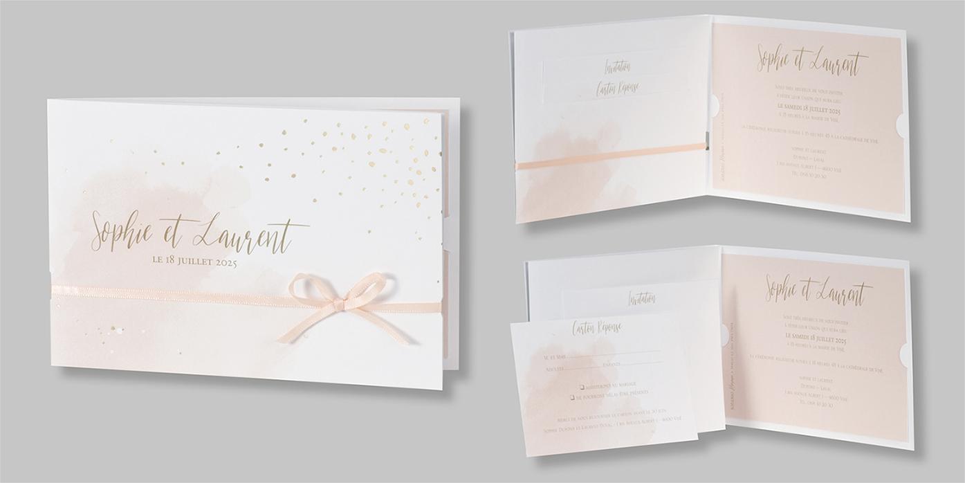 Faire-part mariage aquarelle soft 108060