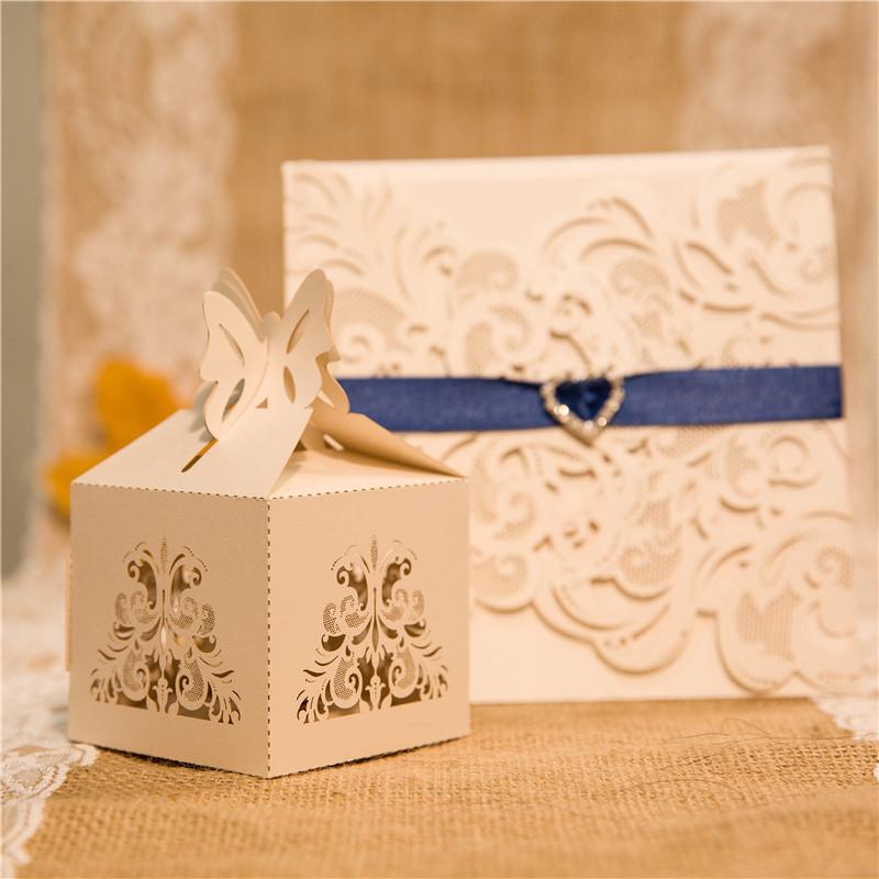 Boîte dentelle ciselée pour dragées et autres gourmandises WBC0027