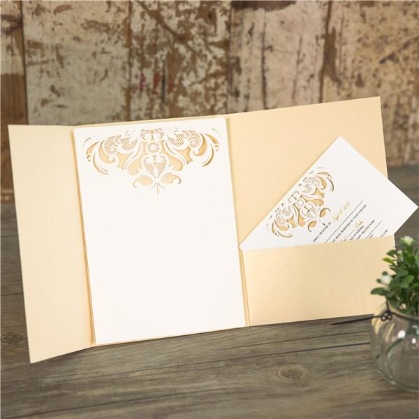 Faire-part mariage pochette WPFC2117 ouvert