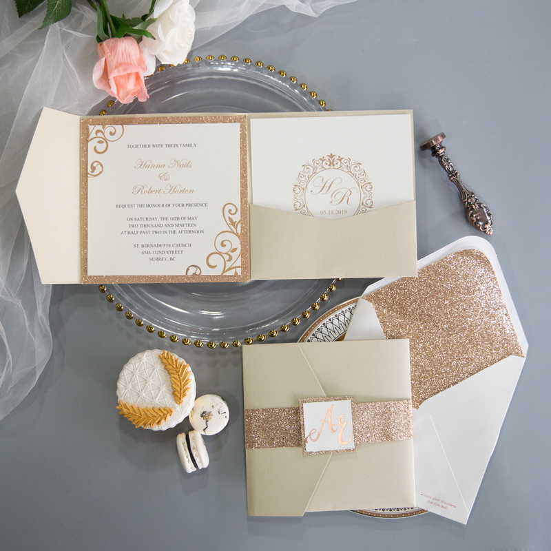 Faire-part mariage pochette WPFD2118