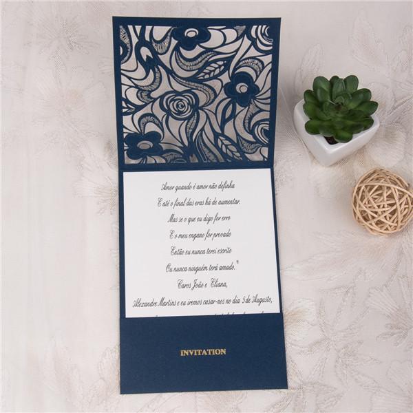 Faire-part mariage ciselé pochette WPL0017 ouvert