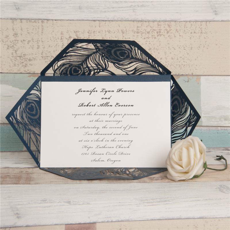 Faire-part mariage ciselé WPL0037 ouvert