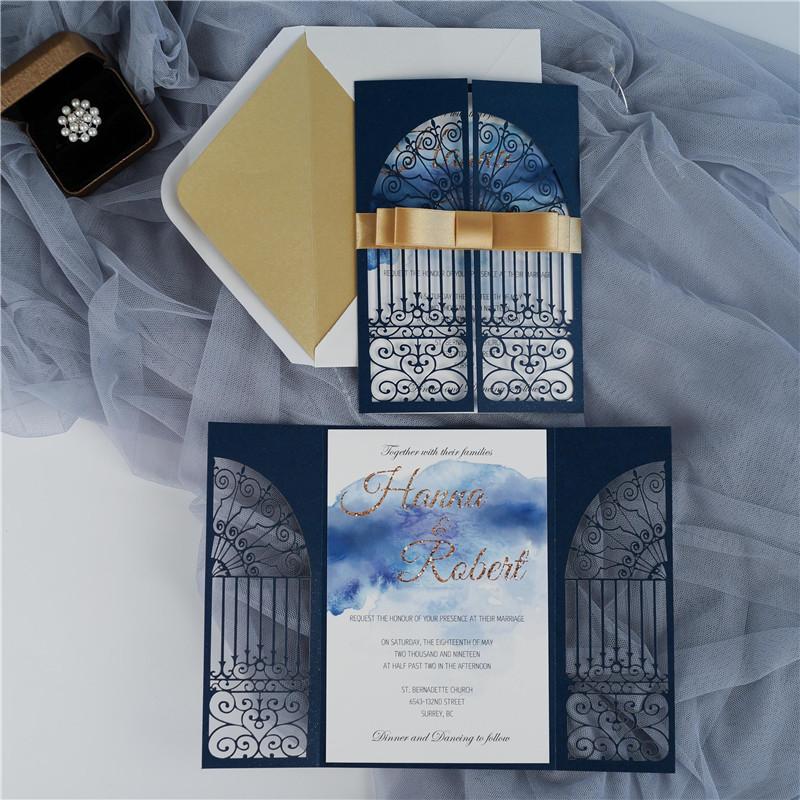Faire-part mariage ciselé WPL0139