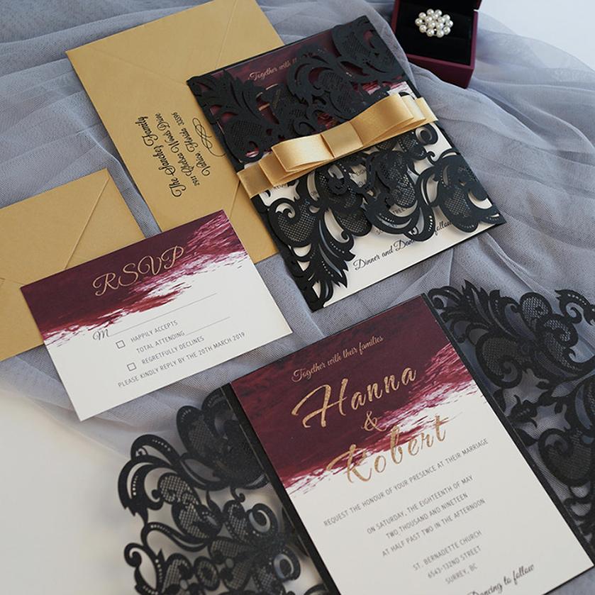 Faire-part mariage ciselé WPL0175