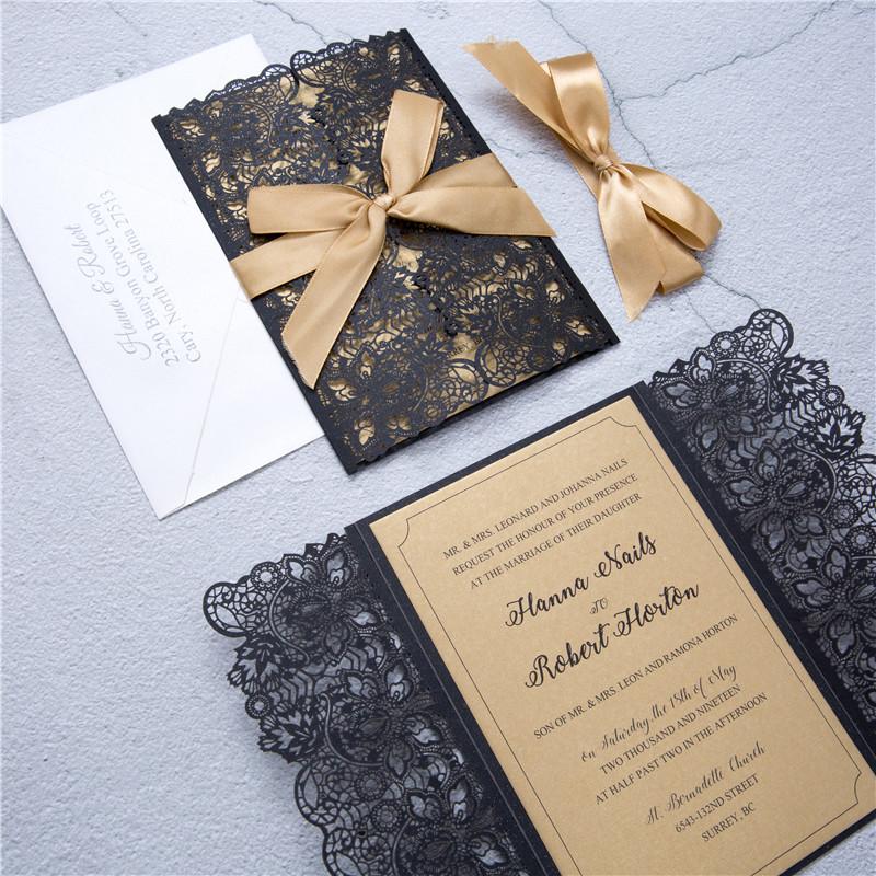 Faire-part mariage ciselé WPL0178