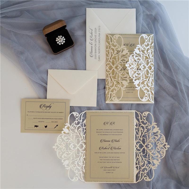 Faire-part mariage ciselé WPL0179