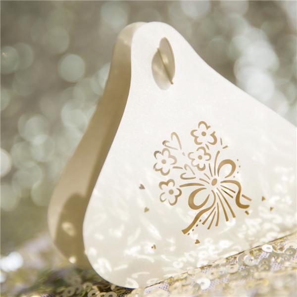 Boîte dentelle ciselée pour dragées et autres gourmandises WSBC0006