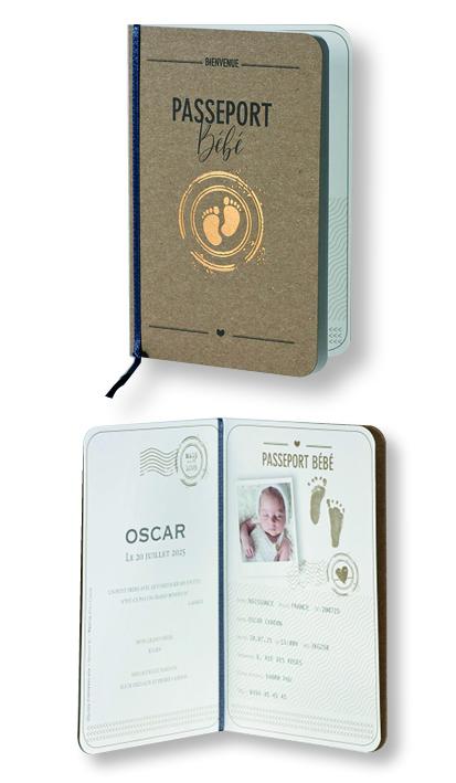 """Faire-part de naissance """"Passeport Bébé"""" 589025"""