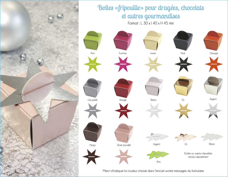 Boîte dragées chocolat