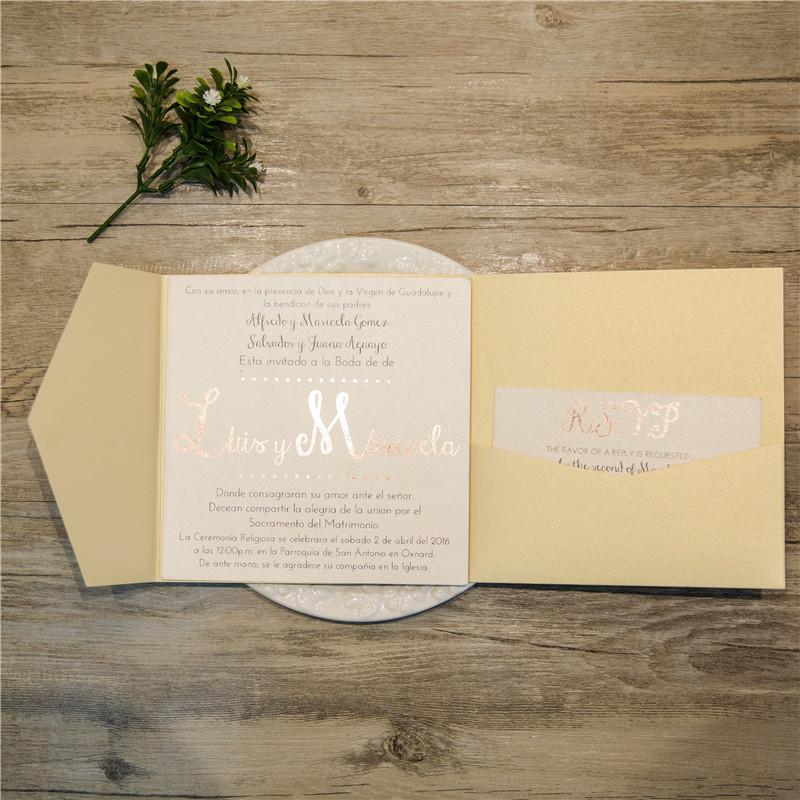 Faire-part de mariage non ciselé WPFD2118