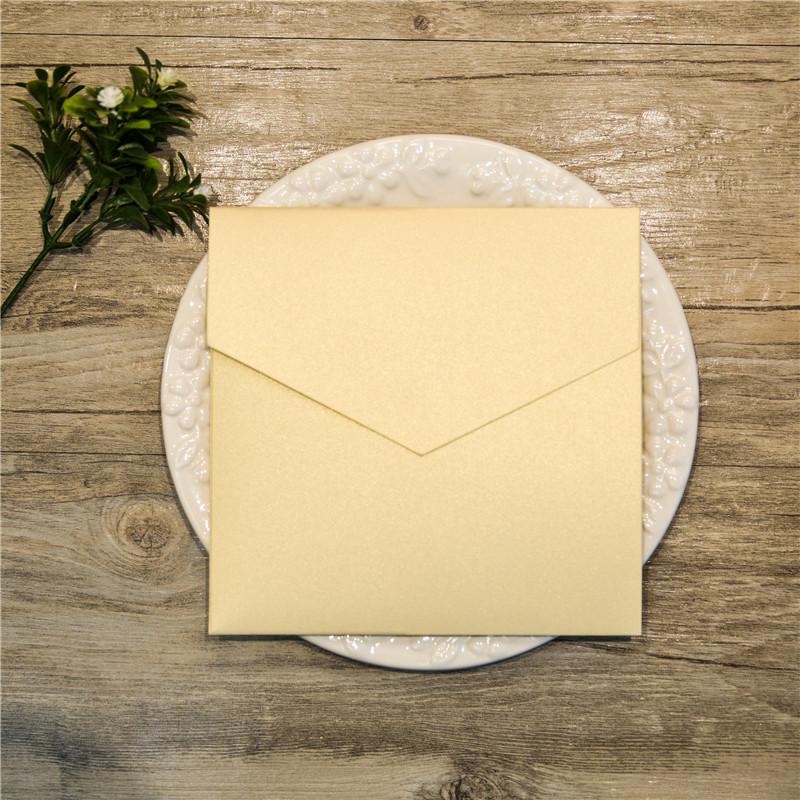 Faire-part de mariage non ciselé fermé WPFD2118