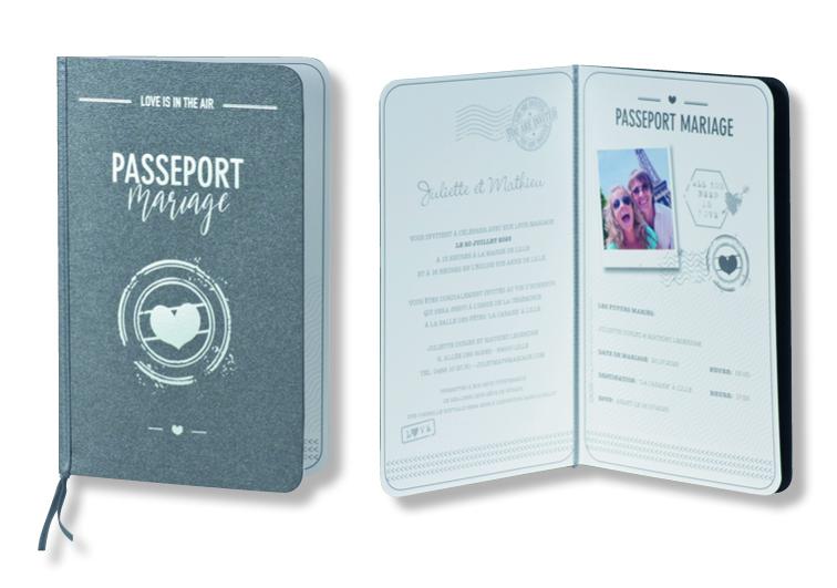 """Faire-part de mariage """"Passeport d'Amour"""" 108049"""