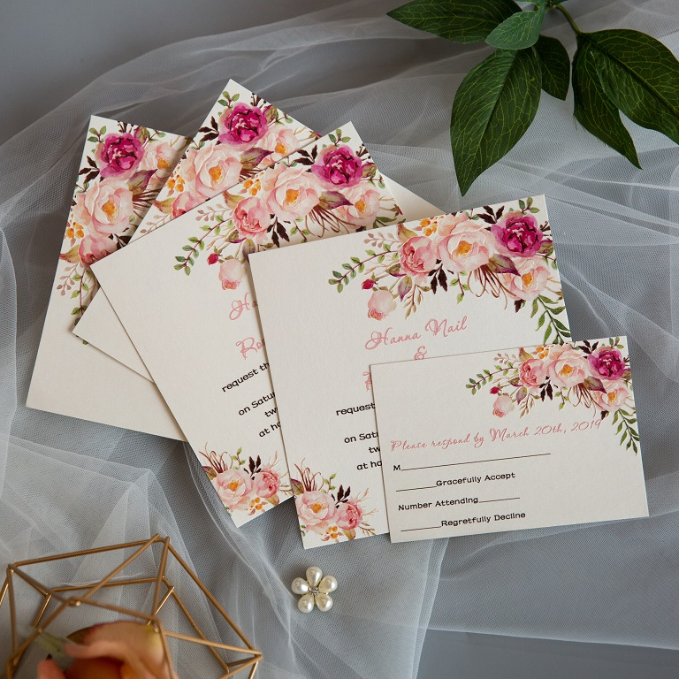 Cartes d'invitation mariage impression UV CUPT01