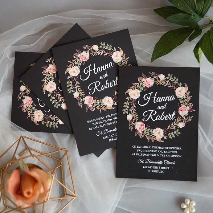 Cartes d'invitation mariage impression UV CUPT02