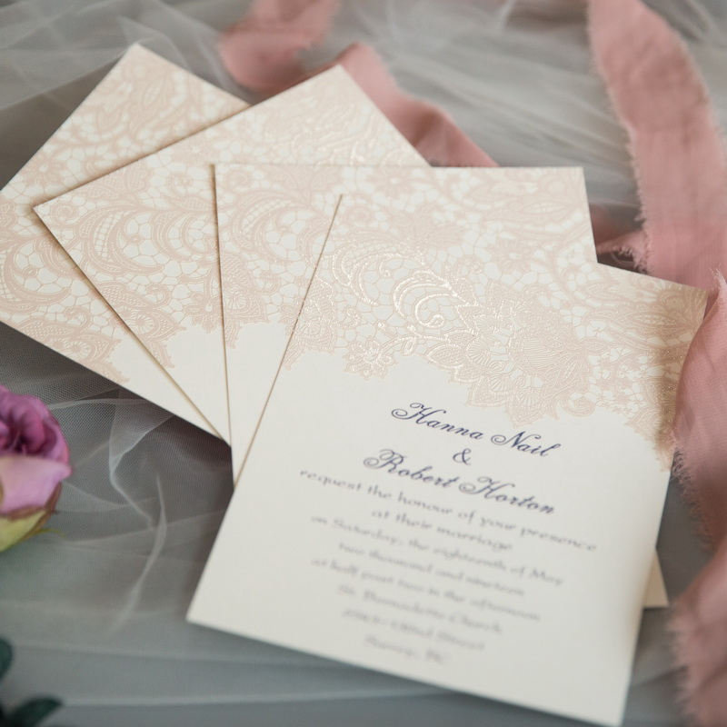 Cartes d'invitation mariage impression UV CUPT03