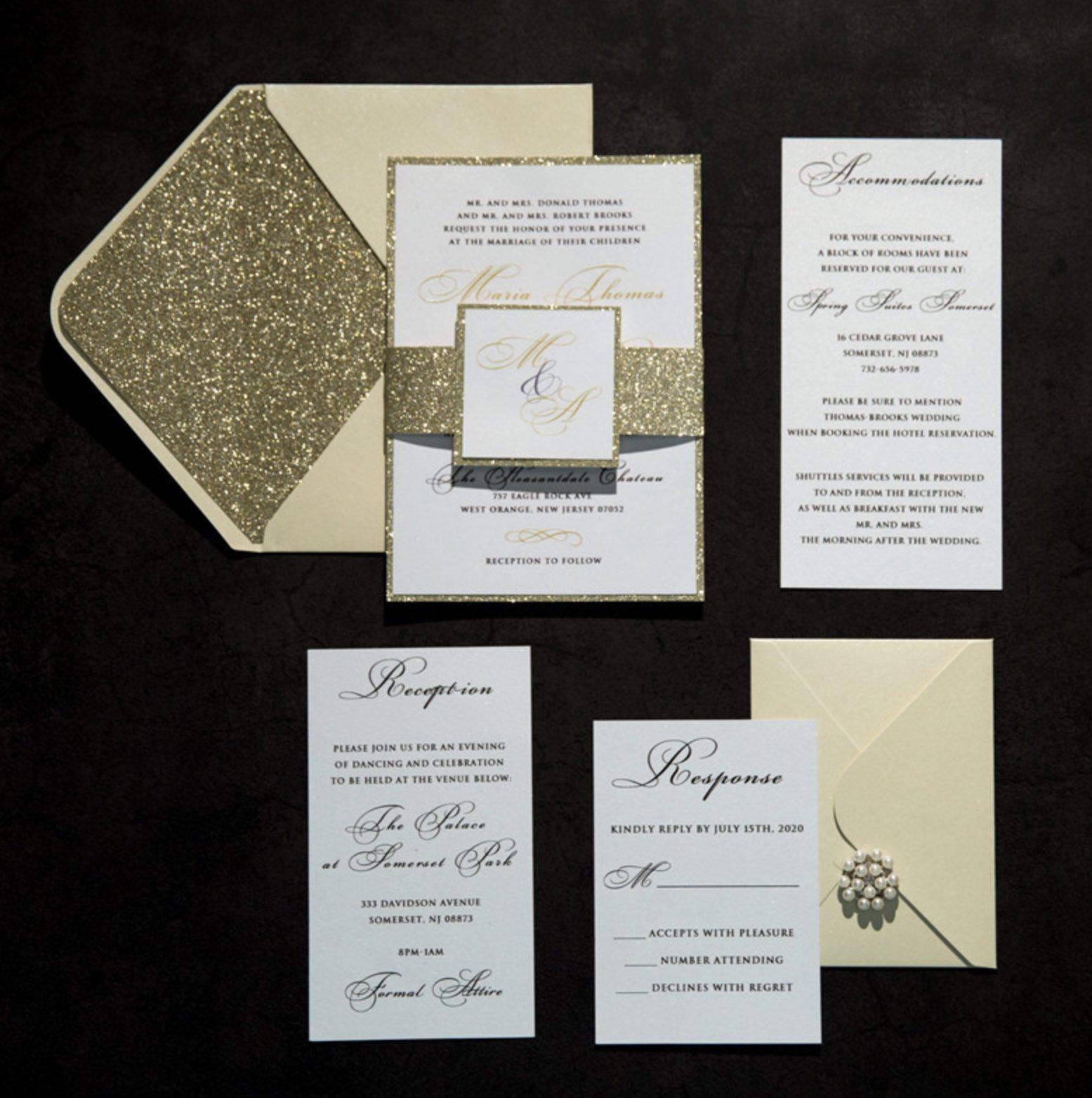 Cartes d'invitation mariage impression UV CUPT07