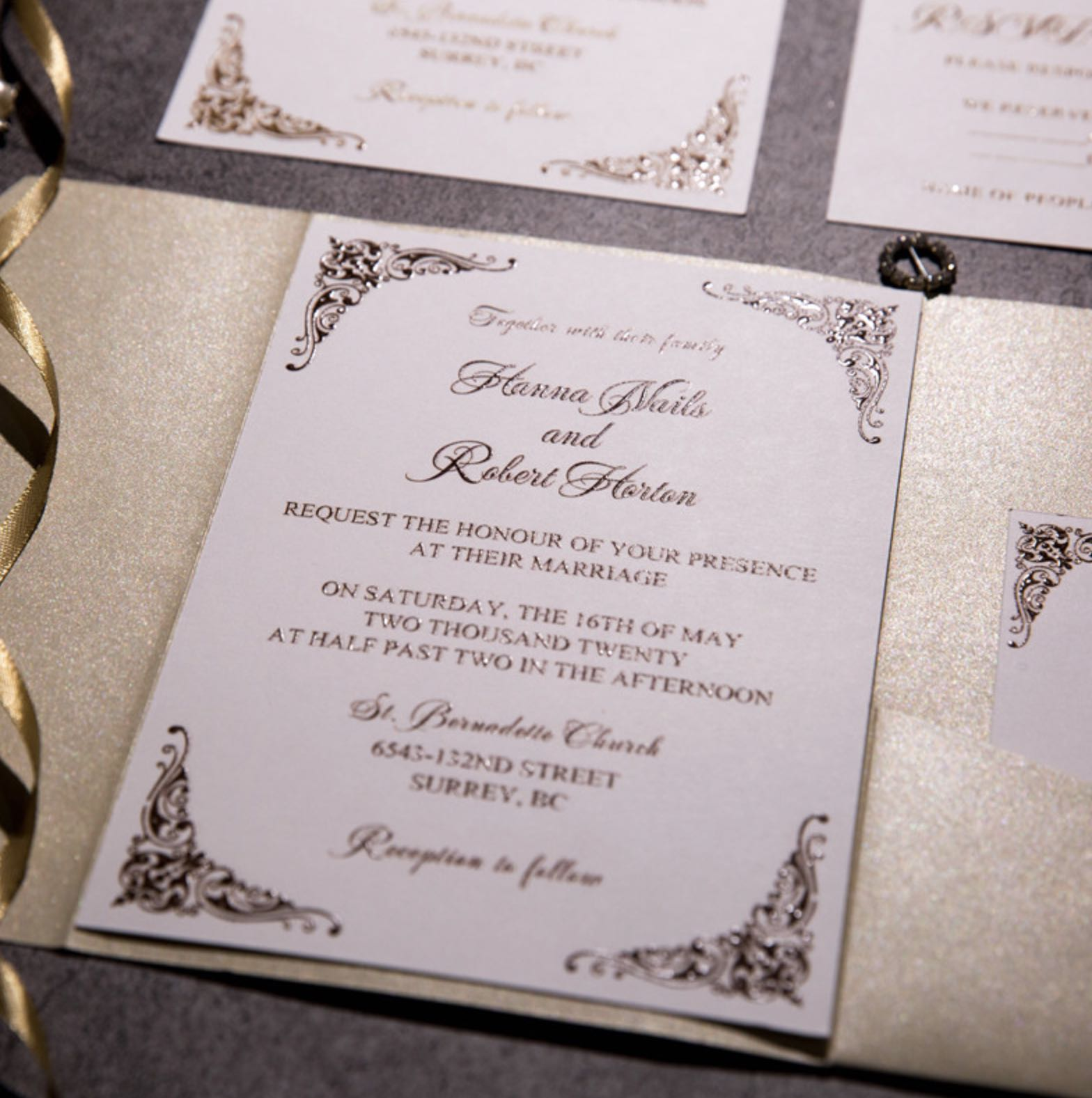 Carte d'invitation mariage impression UV CUPT11