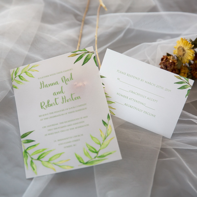 Cartes d'invitation mariage impression UV CUPT16