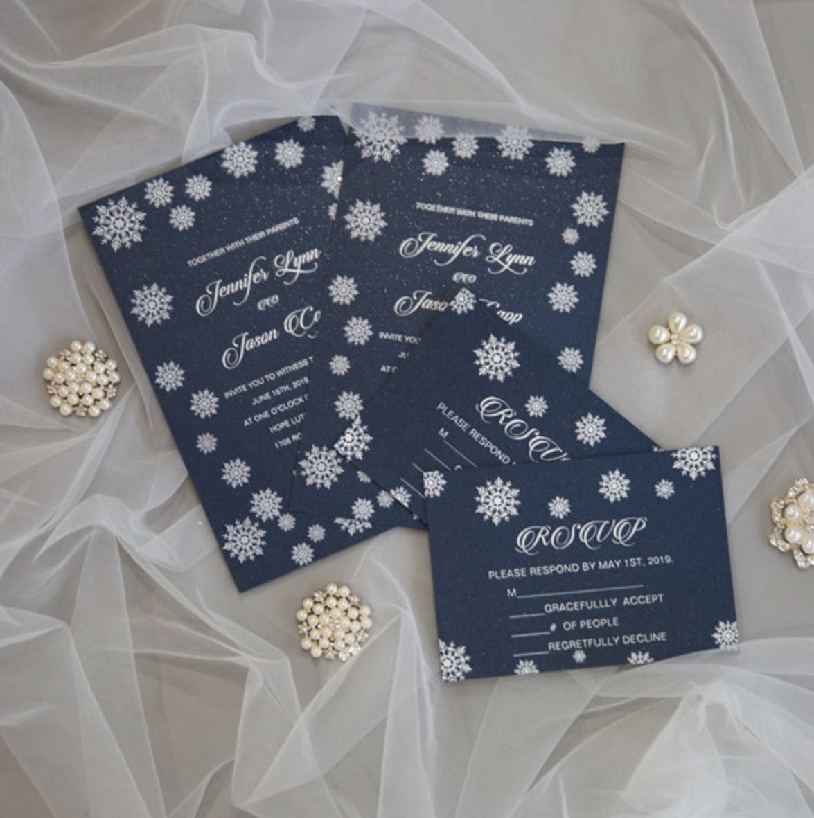 Cartes d'invitation mariage impression UV CUPT22