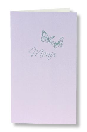 """Menu de mariage """"Mauve et Papillons"""" 208057"""