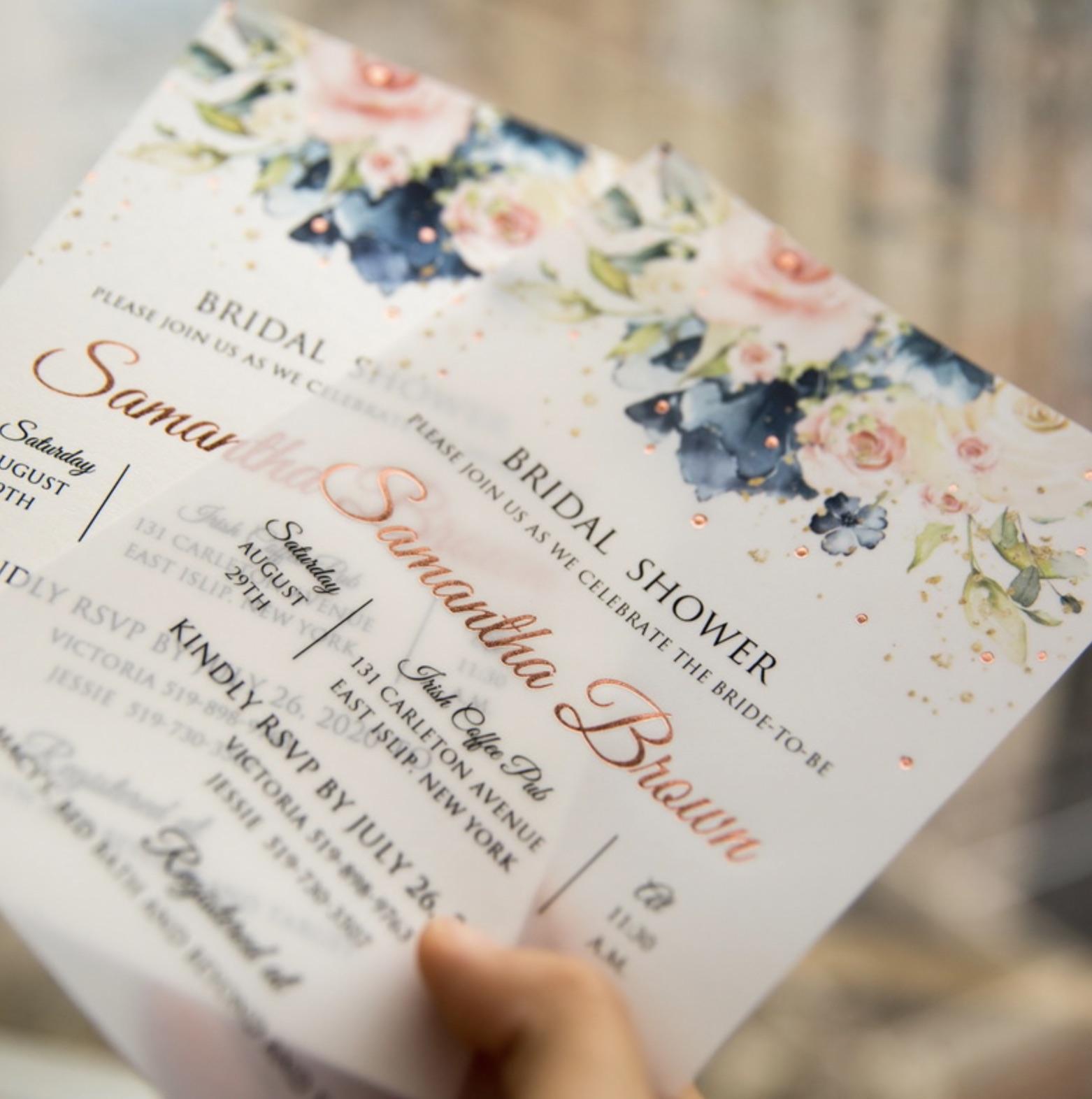 Cartes d'invitation mariage dorure à chaud WFSI0026