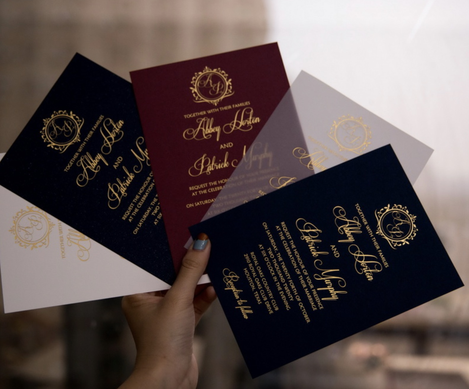 Cartes d'invitation mariage dorure à chaud WFSI0027