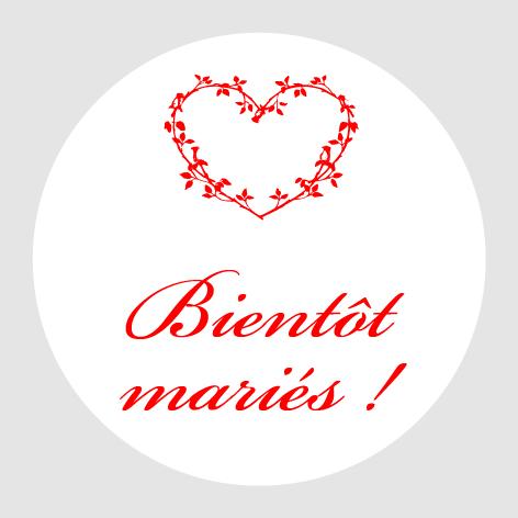 Sticker autocollant mariage MBI004