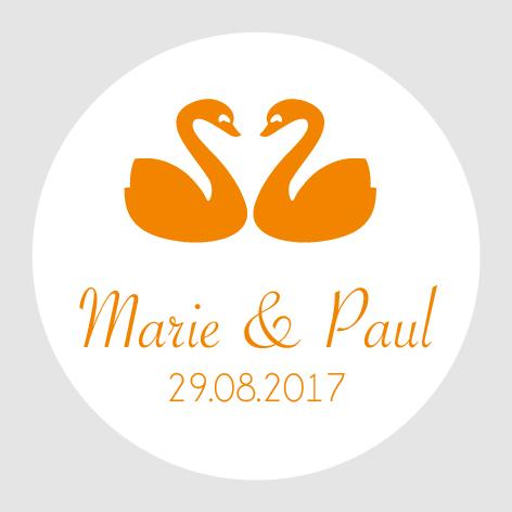 Sticker autocollant mariage MBI006