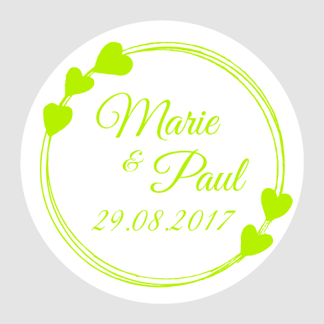 Sticker autocollant mariage MBI008