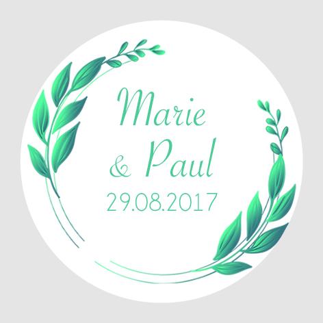 Sticker autocollant mariage MBI010
