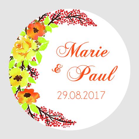 Sticker autocollant mariage MBI012