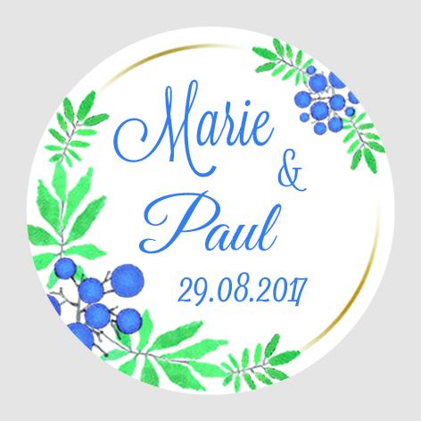 Sticker autocollant mariage MBI013
