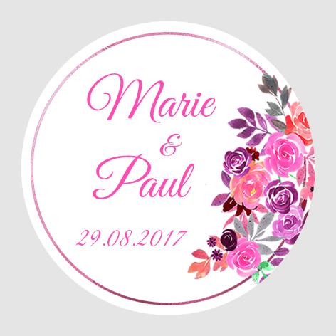Sticker autocollant mariage MBI017