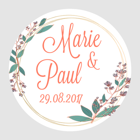 Sticker autocollant mariage MBI018