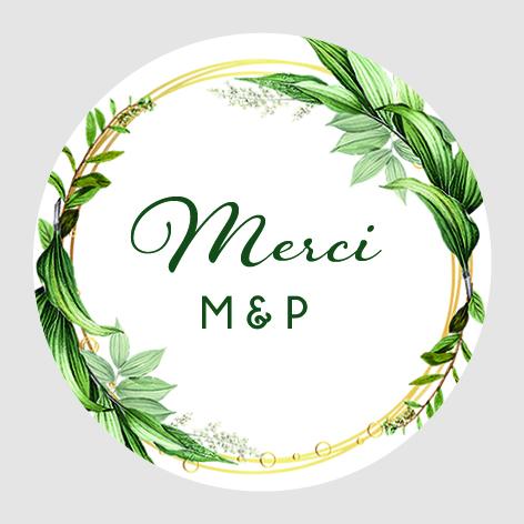 Sticker autocollant mariage MBI023