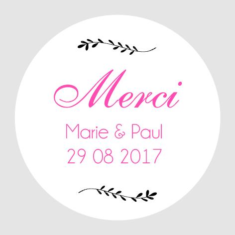 Sticker autocollant mariage MBI024