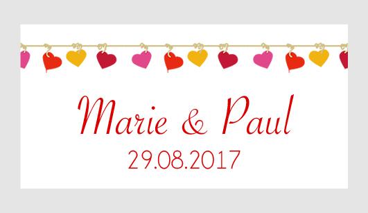 Sticker autocollant mariage MBI061