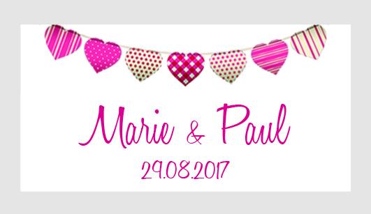 Sticker autocollant mariage MBI063
