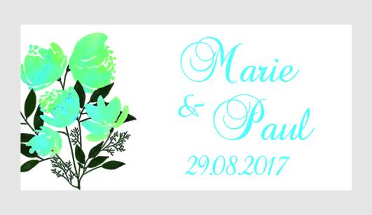 Sticker autocollant mariage MBI064